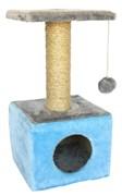 Домик квадратный 30х30х60см Шурум-Бурум голубой для кошек