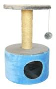 Домик круглый 38х38х60см Шурум-Бурум голубой для кошек