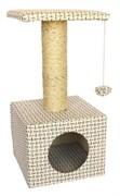 Домик квадратный 30х30х60см Шурум-Бурум Непал для кошек