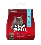 """Наполнитель 5кг Pi-Pi-Bent """"Классик"""" комкующийся для кошек (3889С)"""