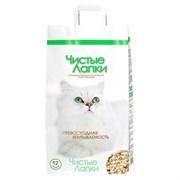 Наполнитель 4,5кг Чистые лапки древесный для кошек (2609)