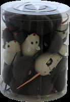Мышь заводная 11см пластиковая серая игрушка для кошек (CT12080)