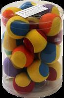 Мяч теннисный 4.5см Шурум-Бурум текстильная разноцветная игрушка д/кошек (CT12029)