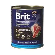 Корм 850г Brit с говядиной и печенью для соб.ж/б (40216)