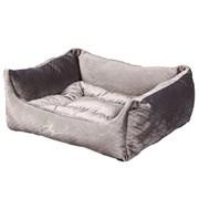 Лежанка квадратная 44х38х18см JOY темная для кошек и собак