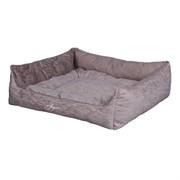 Лежанка квадратная 65х59х21см JOY Spring серебристая для собак