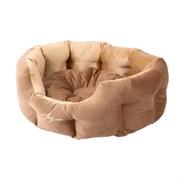 Лежанка круглая 50х40х20см JOY светлая для собак