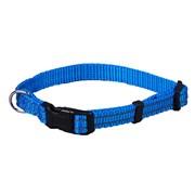 Ошейник 15мм, 30–40см JOY стропа синяя со светоотражающими элементами для собак