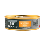 Корм 100г Best Dinner Exclusive с индейкой чувств.пищевар.паштет для кошек ж/б (7566)