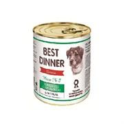 Корм 340г Best Dinner Premium Меню №3 с говядиной и кроликом для собак ж/б (7607)