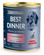 Корм 340г Best Dinner Super Premium с телятиной для щенков ж/б (7615)