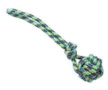 Грейфер 40см веревка с плетеным мячом и ручкой для собак (ГР108)