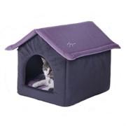 Дом со съемной крышей 53х41х39см JOY цвет в ассортименте для кошек