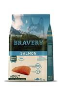 Корм 12кг BRAVERY лосось для собак крупных и средних пород