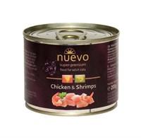 Корм 200г Nuevo курица с креветками для кошек (78777)
