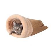 Нора меховая 47х42х18см JOY бежевая для кошек