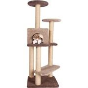 Домик Замок 55х55х150см JOY из ковролина для кошек