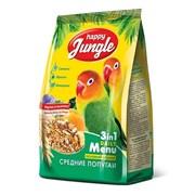 Корм 500г HAPPY JUNGLE для средних попугаев (J104)