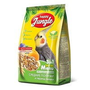 Корм 500г HAPPY JUNGLE для средних попугаев при линьке  (J105)