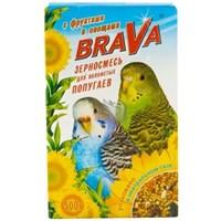 Корм 500г BRAVA с фруктами и овощами для волнистых попугаев