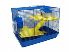 Клетка 47х30х37см прямоугольная. 3-этажная для грызунов (ДКг513)