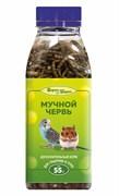 Мучной червь 55г Шурум-Бурум лакомство для грызунов и птиц