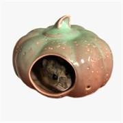 Домик-тыква 10см керамический для грызунов